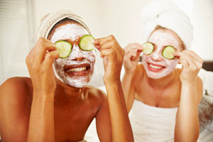 Exfoliating your skin about once a week can help prevent pores from clogging & help prevent blackheads and pimples.