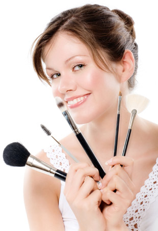 Clean brushes, beautiful makeup.